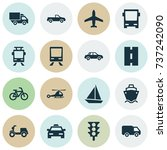 shipment icons set. collection... | Shutterstock .eps vector #737242090