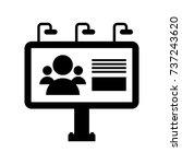 an outdoor billboard icon in...   Shutterstock .eps vector #737243620