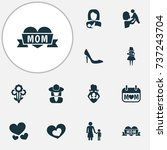 mothers day icon design concept....   Shutterstock .eps vector #737243704