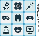 drug icons set. collection of... | Shutterstock .eps vector #737244034