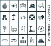 tourism icons set. collection... | Shutterstock .eps vector #737244538