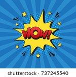 retro comic speech bubble with... | Shutterstock .eps vector #737245540