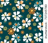 small floral pattern. cute... | Shutterstock .eps vector #737245780