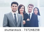 group of business people at... | Shutterstock . vector #737248258
