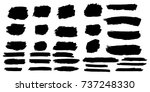 set of hand painted brush... | Shutterstock .eps vector #737248330
