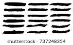 set of hand painted brush... | Shutterstock .eps vector #737248354