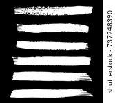 set of hand painted white brush ... | Shutterstock .eps vector #737248390