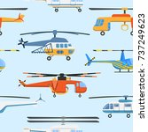 helicopter air transport... | Shutterstock .eps vector #737249623
