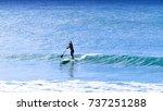 paddle boarding laguna bay... | Shutterstock . vector #737251288