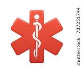 medicine symbol   of the... | Shutterstock .eps vector #737251744