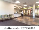 Blurred image lobby front desk...