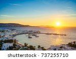 Dreamy Sunset Over Mykonos Tow...