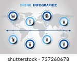 infographic design with drink... | Shutterstock .eps vector #737260678