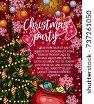 christmas party invitation... | Shutterstock .eps vector #737261050