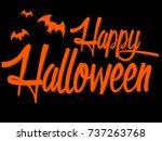 banner happy halloween on... | Shutterstock .eps vector #737263768