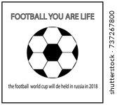 football championship. vector... | Shutterstock .eps vector #737267800
