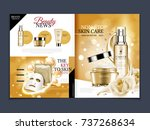 cosmetic magazine template ... | Shutterstock .eps vector #737268634