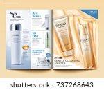 cosmetic magazine template ... | Shutterstock .eps vector #737268643