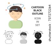 dizziness icon cartoon. single... | Shutterstock .eps vector #737272264
