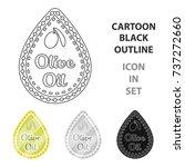 label of olive oil.olives... | Shutterstock .eps vector #737272660