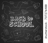 back to school hand drawn...   Shutterstock .eps vector #737276488