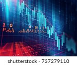 financial stock market graph on ... | Shutterstock . vector #737279110
