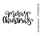 merry christmas card with... | Shutterstock .eps vector #737286076