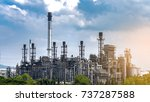 oil and gas industry with... | Shutterstock . vector #737287588