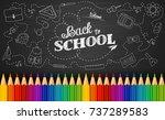 vector illustration of welcome... | Shutterstock .eps vector #737289583