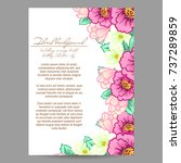 invitation with floral... | Shutterstock . vector #737289859