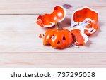 Halloween Pumpkin Doll Broken...