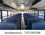 inside the school bus | Shutterstock . vector #737295298