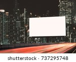 blank template  for outdoor... | Shutterstock . vector #737295748