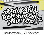 vector hand drawn typeface in...