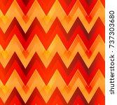 warm color zigzag seamless...   Shutterstock .eps vector #737303680