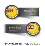 flag icon and label with text... | Shutterstock .eps vector #737304118