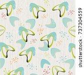 retro bark cloth boomerangs... | Shutterstock .eps vector #737304559