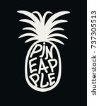 pineapple illustration ... | Shutterstock .eps vector #737305513