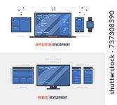 development of adaptive website ... | Shutterstock .eps vector #737308390
