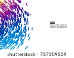 abstract colorful swirl shape... | Shutterstock .eps vector #737309329
