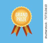 grand prize badge medal  gold... | Shutterstock .eps vector #737313610