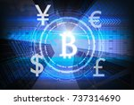 the financial technology or... | Shutterstock . vector #737314690