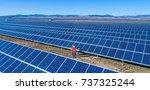 solar power station | Shutterstock . vector #737325244