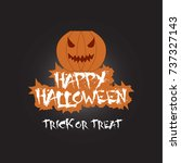 happy halloween card | Shutterstock .eps vector #737327143