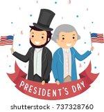 illustration of men wearing... | Shutterstock .eps vector #737328760