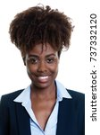 Stock photo passport photo of a laughing african american businesswoman 737332120