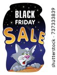 black friday sale banner with a ... | Shutterstock .eps vector #737333839