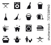 16 vector icon set   iron board ... | Shutterstock .eps vector #737338960