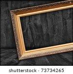 blank picture frame in dark room   Shutterstock . vector #73734265