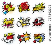 vintage pop art comic bubbles... | Shutterstock .eps vector #737343373